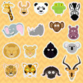 Cute animals illustration set of african Stock Photo