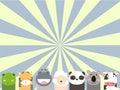 Cute animals vector illustrator and computer design Stock Photos