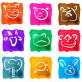 Cute animals wild hand drawn collection all objects are isolated groups so you can move and separate them Royalty Free Stock Photography