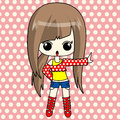 Cute anime girl in funky set