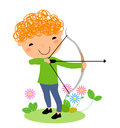 A cute archery illustration of Royalty Free Stock Photos