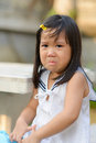 Cute asian child crying sad on the morning Stock Images
