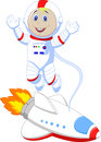 Cute astronaut cartoon illustration of Royalty Free Stock Photography
