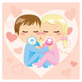 Cute Babies Hugging Royalty Free Stock Photography