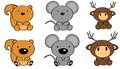 Cute baby animals set3