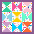 Cute baby background,seamless baby pattern,baby blanket Royalty Free Stock Photo