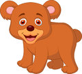 Cute baby bear cartoon illustration of Royalty Free Stock Image
