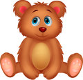 Cute baby bear cartoon illustration of Royalty Free Stock Photography