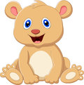 Cute baby bear cartoon Royalty Free Stock Photo