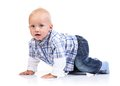 Cute baby boy over white background Royalty Free Stock Photo