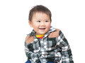 Cute baby boy smile Royalty Free Stock Photos