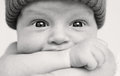 Cute baby boy with wide eyes Stock Photography