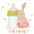 Cute Baby Bunny - Arrival Card