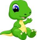 Cute baby dinosaur cartoon Royalty Free Stock Photo