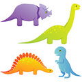 Cute baby dinosaurs Royalty Free Stock Photos