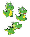 Cute baby dragon illustration of funny cartoon Royalty Free Stock Photos