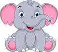 Cute baby elephant cartoon Royalty Free Stock Photo