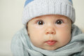 Cute baby face closeup portrait Royalty Free Stock Photos