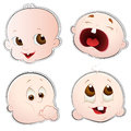 Cute Baby Faces Royalty Free Stock Photos