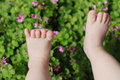 Cute baby feet Stock Photos