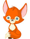 Cute baby fox illustration of Royalty Free Stock Photo