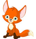 Cute baby fox illustration of Royalty Free Stock Photography