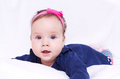 Cute baby girl detailed portrait Royalty Free Stock Photos