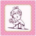Cute Baby Girl Illustration