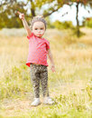 Cute baby girl outdoors Royalty Free Stock Photo