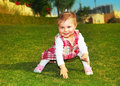 Cute baby girl playing Royalty Free Stock Photos
