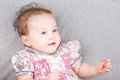Cute baby girl in a summer dress Royalty Free Stock Photo