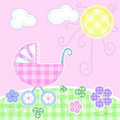 Cute baby greeting card Stock Photo
