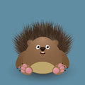 Cute baby hedgehog cartoon graphic art Royalty Free Stock Photos