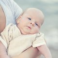 Cute baby human hands are holding adorable Royalty Free Stock Images