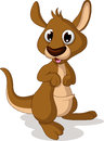 Cute baby kangaroo smiling illustration of Royalty Free Stock Image