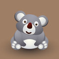 Cute baby koala cartoon bear graphic art Royalty Free Stock Images