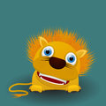 Cute baby lion cartoon graphic art Royalty Free Stock Image