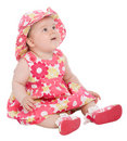 Cute baby looking up Royalty Free Stock Images