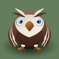 Cute baby owl cartoon design Royalty Free Stock Images