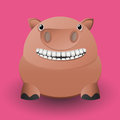 Cute baby pig cartoon design Stock Image