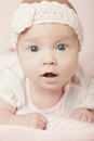 Cute baby portrait happy with big eyes Stock Images