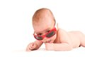 Cute baby portrait in sunglasses Royalty Free Stock Photo