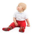 Cute Baby In Red Shorts