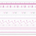 Cute baby seamless border. Child birthday pattern. Royalty Free Stock Images