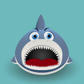 Cute baby shark cartoon graphic art Stock Photos