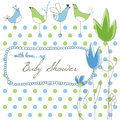 Cute baby shower Royalty Free Stock Photos