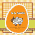 Cute baby shower card Stock Photography