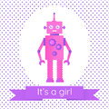 Cute baby shower card with a robot.