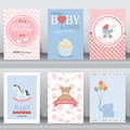 Cute baby shower invitation. vector Royalty Free Stock Photo
