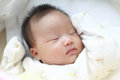 Cute baby sleep at home Stock Photography